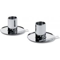 Zestaw 2 filiżanek do espresso ze spodkami 0,09 l - Jean Nouvel Alessi Officyna JN02SET