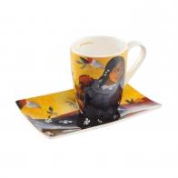 Kubek 12 cm z podstawka Artist Mug - Kobieta z mango - Paul Gauguin Goebel 67130011