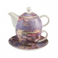 Zestaw Tea For One 15 cm 0,35 l - Evening Flowers II Cloude Monet Goebel 67013511