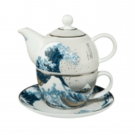 Zestaw Tea For One 15 cm 0,35 l - Wielka Fala Hokusai Katsushika Goebel 67013531
