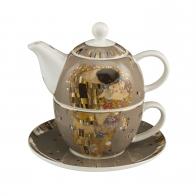 Zestaw Tea For One 15 cm 0,35 l Pocałunek Gustaw Klimt Goebel 67013541
