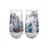 Zestaw szklanek 0,45 l Wielka Fala - Katsushika Hokusai Goebel 66487031