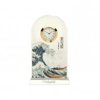 Zegar kryształowy 18,5 cm Wielka Fala - Katsushika Hokusai Goebel 66523361
