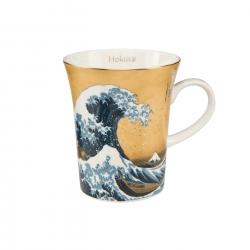 Kubek 11 cm złoty Wielka Fala - Katsushika Hokusai