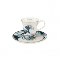Filiżanka do espresso 8 cm Wielka Fala, Great Wave- Katsushika Hokusai Goebel 67011721