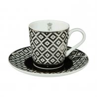 Filiżanka do espresso 0,1 l Paski - Chateau - Princess Maja von Hohenzollern Goebel 27-050-10-1