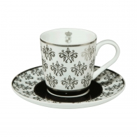 Filiżanka do espresso 0,1 l Paski - Chateau - Princess Maja von Hohenzollern Goebel 27-050-11-1