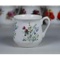 Kubek śląski - dekoracja kwiaty polne z koniczyną (duży)