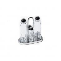 Zestaw do soli, pieprzu, oleju i octu - Ettore Sottsass Alessi 5070
