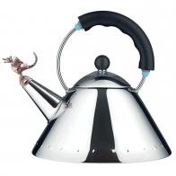 Czajnik 2 l czarny z gwizdkiem ptaka - Michael Graves Alessi 9093 B