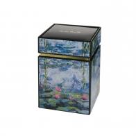 Pudełko na herbatę 11cm Pudełko na herbatę 11cm Lilie Wodne z Wierzbą Cloude Monet Goebel 67065061