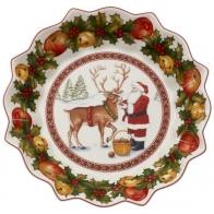 Duża miska Św. Mikołaj karmiący renifera - Toy's Fantasy