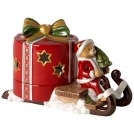Świecznik tealight Sanie z misiem - Christmas Light