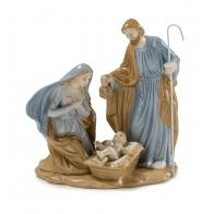 Św. Rodzina Maryja, Józef i Jezus w żłobku 17 cm - Palais Royal 1018082