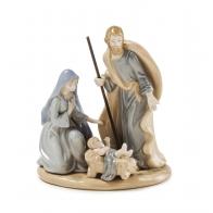Św. Rodzina Maryja, Józef i Jezus w żłobku 17 cm - Palais Royal 1018333