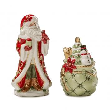 Św. Mikołaj z workiem prezentów 12 cm - Fitz and Floyd 1018206