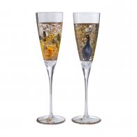 Kieliszki 2 sztuki Papużki i Paw 27 cm - Louis Comfort Tiffany Goebel 66-926-39-1
