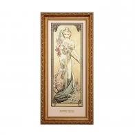 Obraz Wiosna - Cztery Pory Roku - Alfons Mucha, 66-508-56-1, Goebel