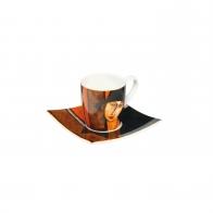 Filiżanka 6,5 cm z podstawką Artist Mug - Kobieta z kapeluszem - Amedeo Modigliani Goebel 671200021