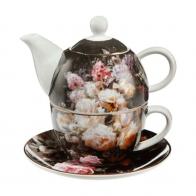 Zestaw Tea For One 15 cm 0,35 l Martwa natura z różami - Jean Baptiste Robie Goebel 67013581
