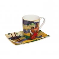 Kubek 12 cm z podstawka Artist Mug - Kiedy wyjdziesz za mąż? - Paul Gauguin Goebel 67130041