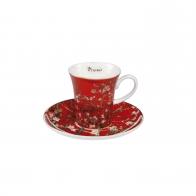 Filiżanka do espresso 7 cm - Drzewo Migdałowe Czerwone - Vincent van Gogh Goebel 67011781