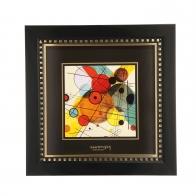 Obraz Koła w okręgu 25 x 25 cm - Wassily Kandinsky 67100101 Goebel