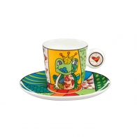 Filiżanka Prince żaba w koronie 0,1 l Romero Britto Goebel 66452301