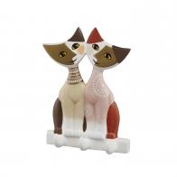 Figurka koty na wieszaku ściennym Arcana 14 cm - Rosina Wachtmeister Goebel 66852301