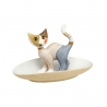 Figurka kot Luna z podstawką na biżuterię 10 cm - Rosina Wachtmeister Goebel 31400461