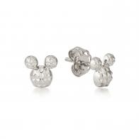 Kolczyki z diamentami srebrne - Myszka Mickey Couture Kingdom 12100751