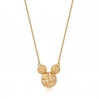 Naszyjnik złoty z diamentami - Myszka Mickey Couture Kingdom 12100721