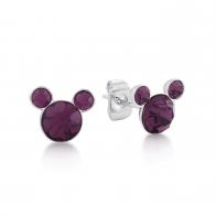 Kolczyki fioletowe Luty - Myszka Mickey Couture Kingdom 12100771