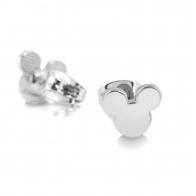 Kolczyki pozłacane białym złotem - Myszka Mickey Couture Kingdom 12100701