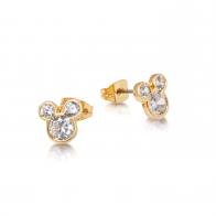 Kolczyki z kryształkami pozłacane - Myszka Mickey Couture Kingdom 12100671