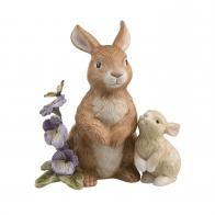 Figurka na rok 2019 Para króliczków z bratkami 13 cm Goebel 66844281