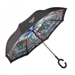 Suprella - parasol odwrotnie składany Berlin - New York - Charles Fazzino