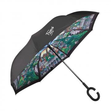 Suprella - parasol odwrotnie składany Berlin - Paris - Charles Fazzino Goebel 67090011