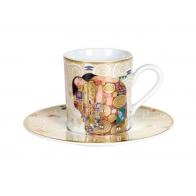 Filiżanka do espresso 6cm Spełnienie - Gustav Klimt