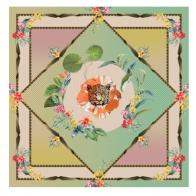 Szal 55 x 55 cm - Etè Savage Palais Royal 37044