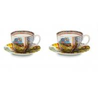 Zestaw dwóch filiżanek do kawy 12 cm - Santa Rosalia Palais Royal 36897