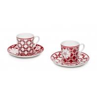 Zestaw dwóch filiżanek do kawy 12 cm - Flower Decò Palais Royal 36817