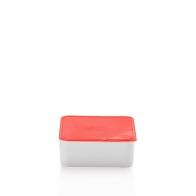 Miska z czerwoną pokrywką 15 x 15 cm - Przyjaciele Kuchni Arzberg 43330-609993-28469