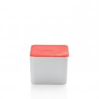 Miska z czerwoną pokrywką 15 x 15 cm - Przyjaciele Kuchni Arzberg 43330-609993-28470