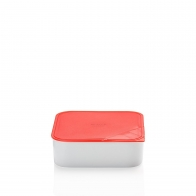 Miska z czerwoną pokrywką 18 x 18 cm - Przyjaciele Kuchni Arzberg 43330-609993-28471