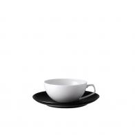 Filiżanka do herbaty 0,24l ze spodkiem TAC Gropius Black Rosenthal 11280 105000 14640