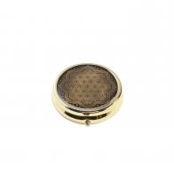 Pill Box Kwiat życia czarny 5 cm - Lotus Goebel 23500341