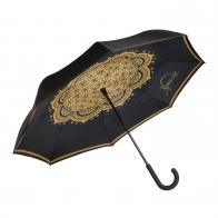 Suprella - parasol odwrotnie składany Kwiat życia czarny - Lotus Goebel 23500051
