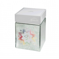 Pudełko na herbatę Om Green 11 cm - Lotus Goebel 27051081