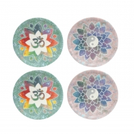 Podstawki - Om Green i Kwiat Lotosu Różowy 10 cm - Lotus Goebel 23101181